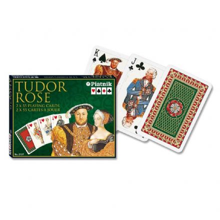 Piatnik Bridge Tudor Rose Set of 2 Packs of Playing Cards